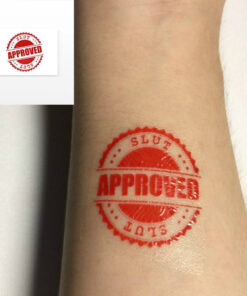 BDSM Temporary Tattoo: SLUT Approved