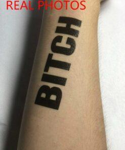 BDSM Temporary Tattoo BITCH