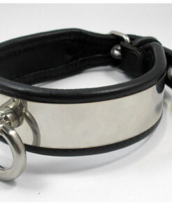 Leather and Stainless Steel Collar with O-ring